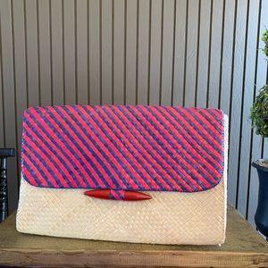 Handbags - Vintage Ratan Woven Clutch